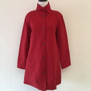 Eileen Fisher Red Midi Coat Size Small
